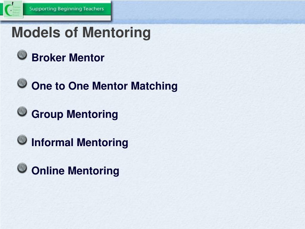 Models of Mentoring