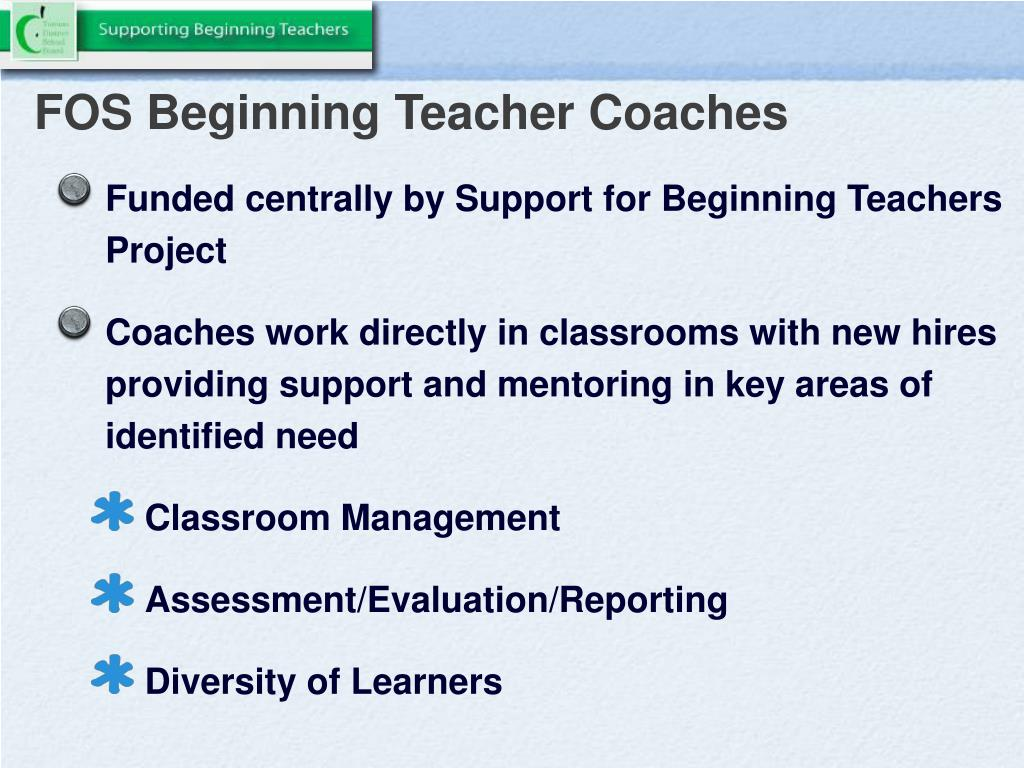FOS Beginning Teacher Coaches