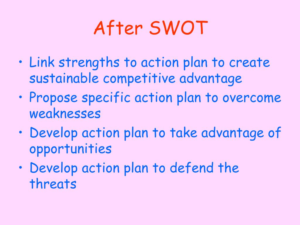 After SWOT