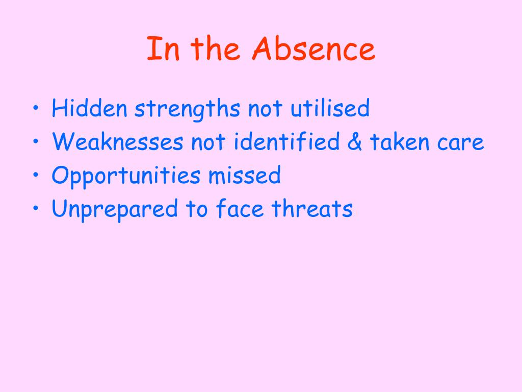 In the Absence