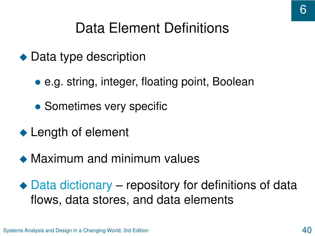 Data Element Definitions