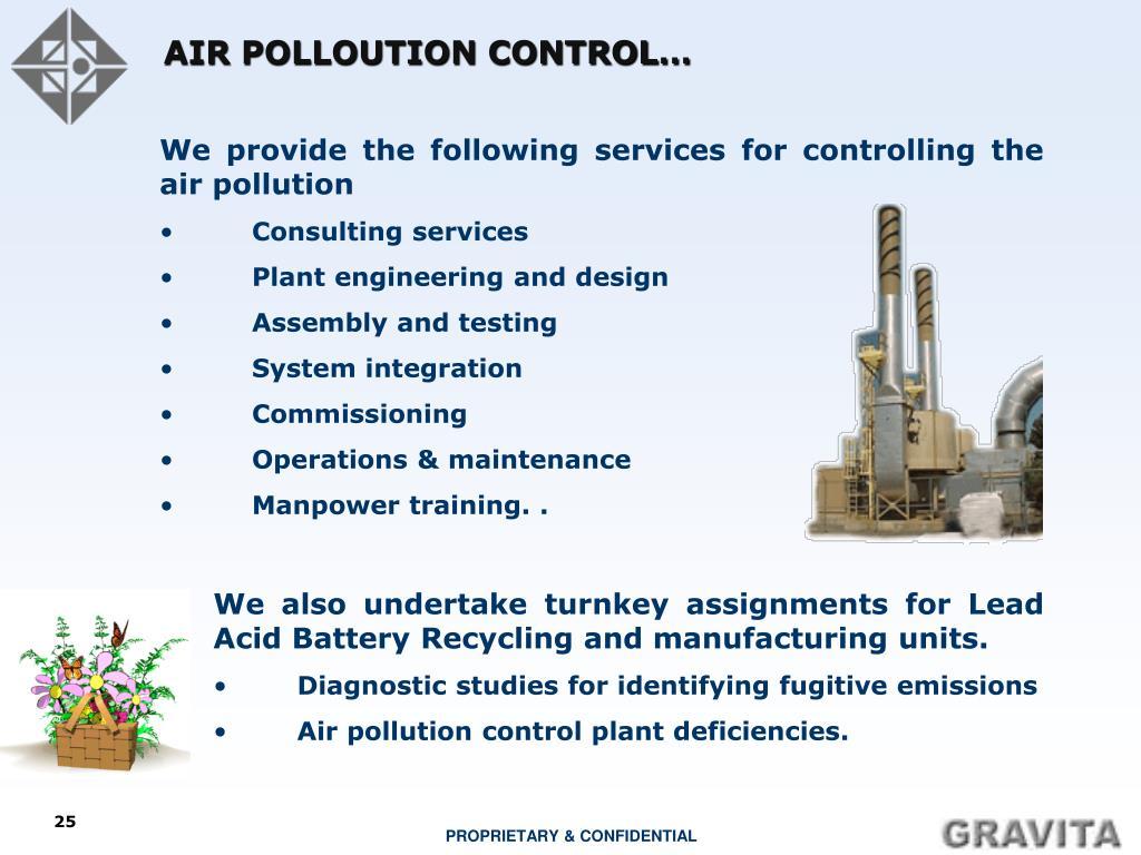 AIR POLLOUTION CONTROL…