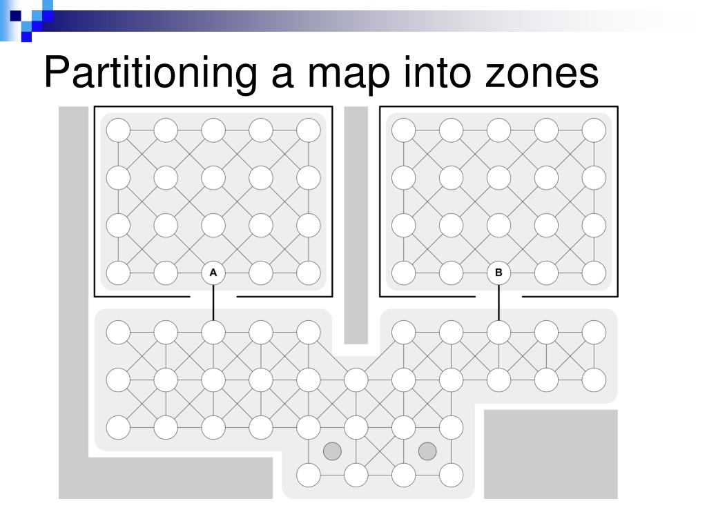 Partitioning a map into zones