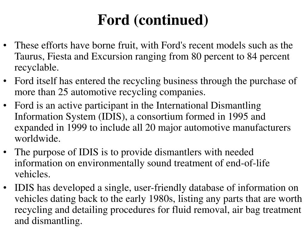 Ford (continued)
