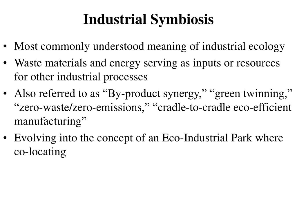 Industrial Symbiosis