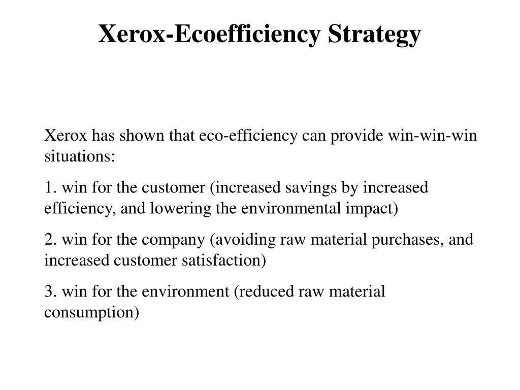 Xerox-Ecoefficiency Strategy