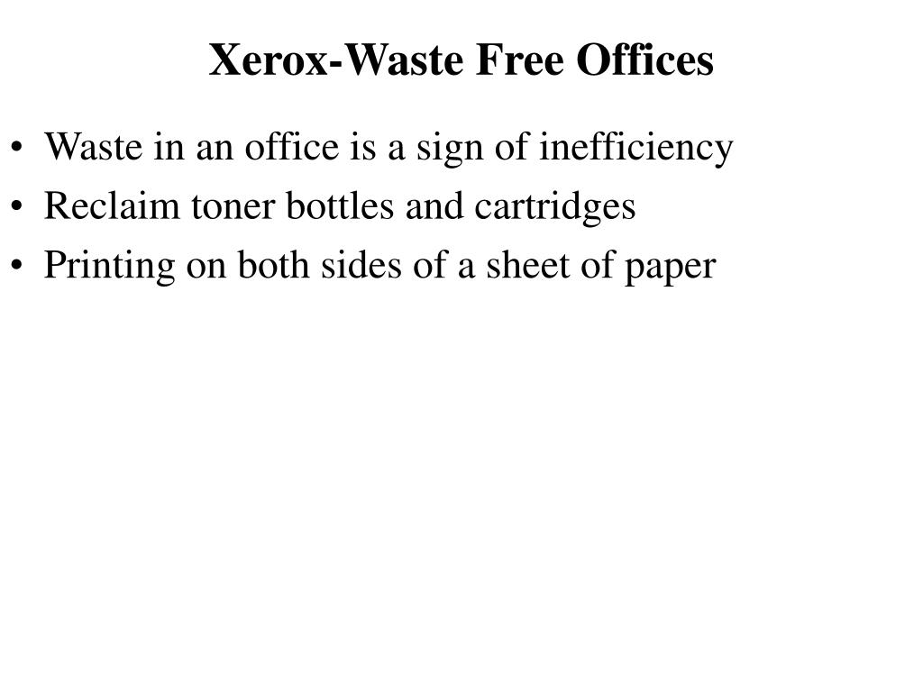 Xerox-Waste Free Offices