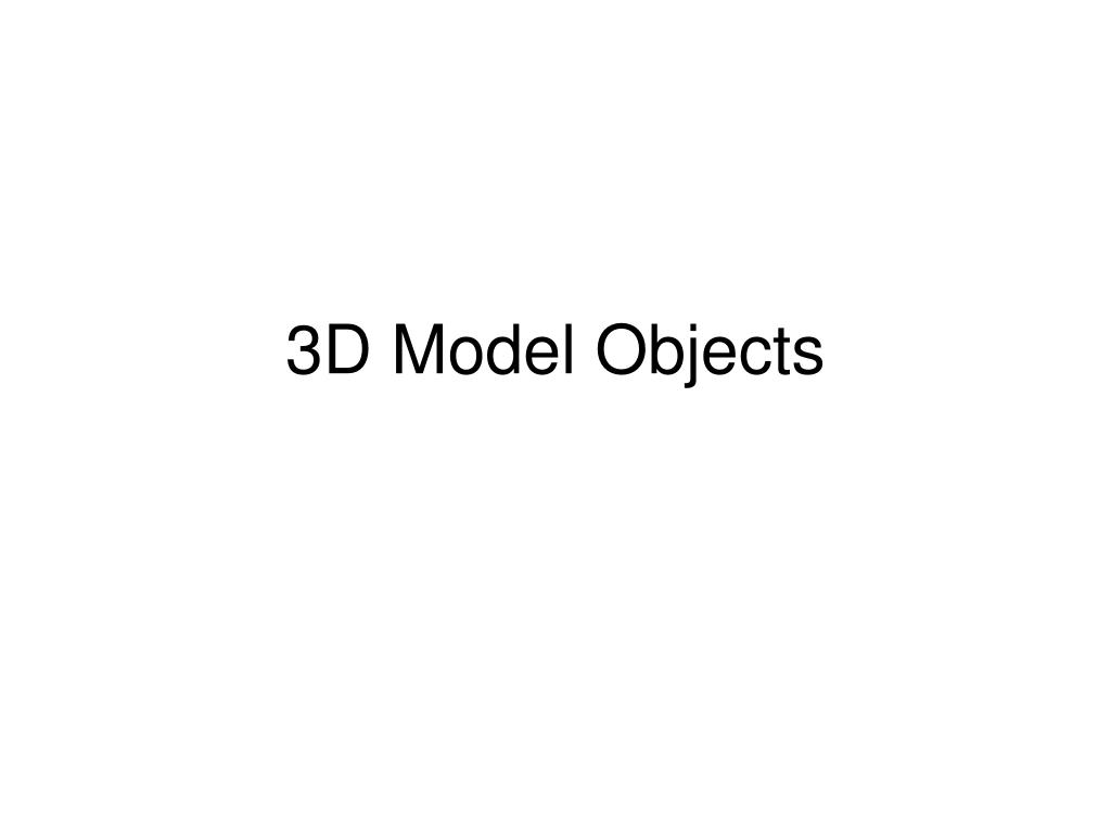 3D Model Objects