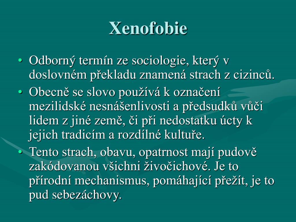 Xenofobie