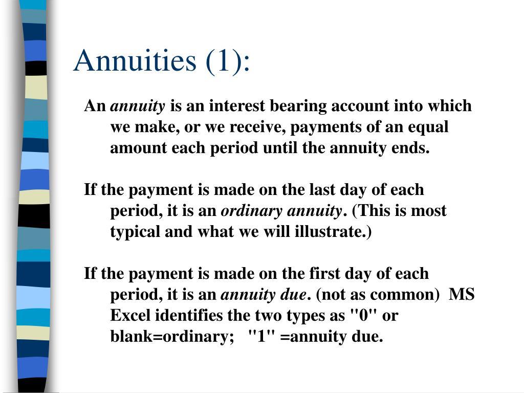 Annuities (1):