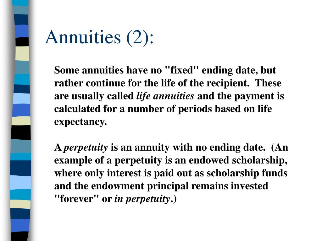 Annuities (2):