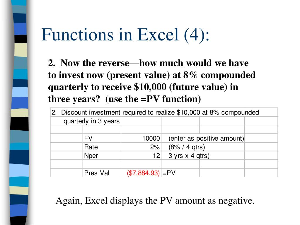 Functions in Excel (4):