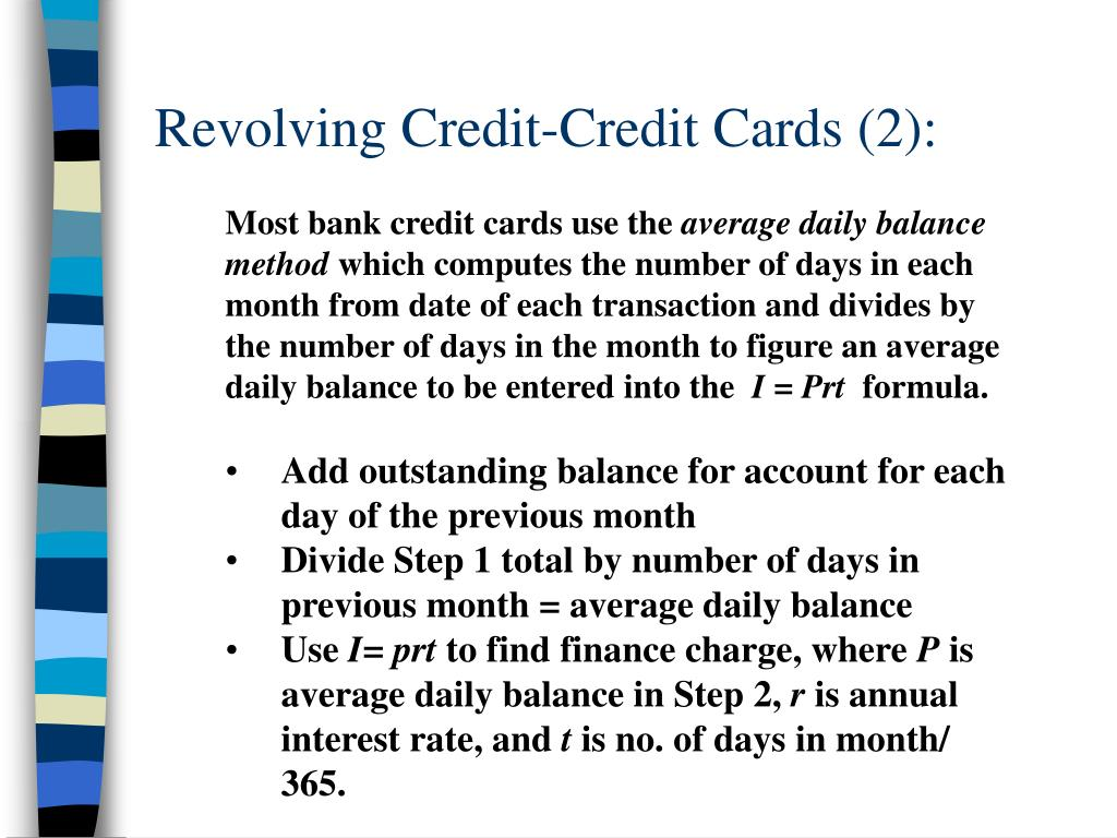 Revolving Credit-Credit Cards (2):