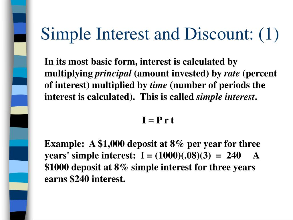 Simple Interest and Discount: (1)