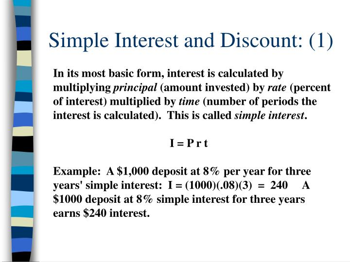 Simple interest and discount 1