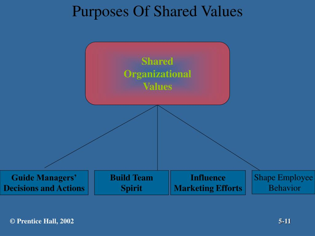 Purposes Of Shared Values