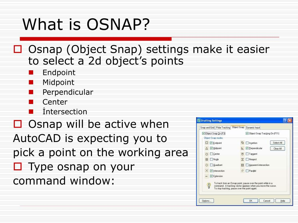 What is OSNAP?