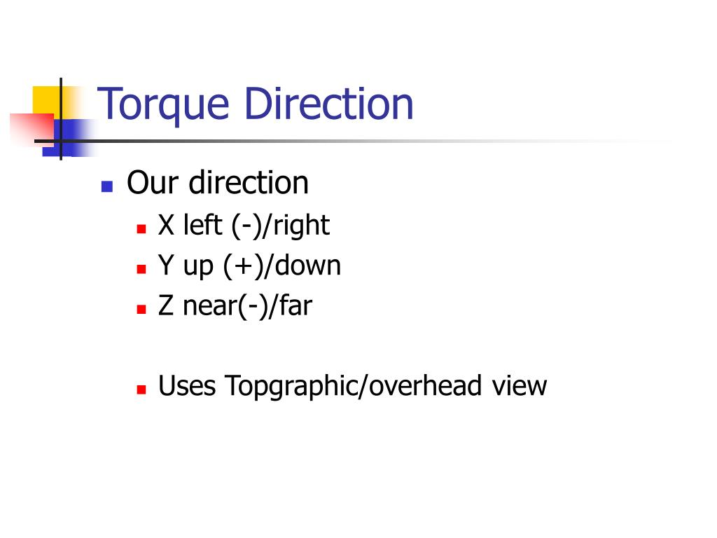 Torque Direction