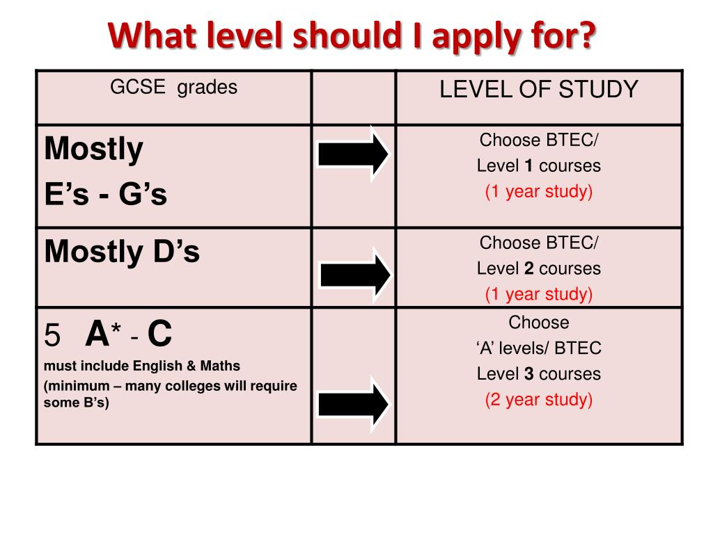 What level should I apply for?