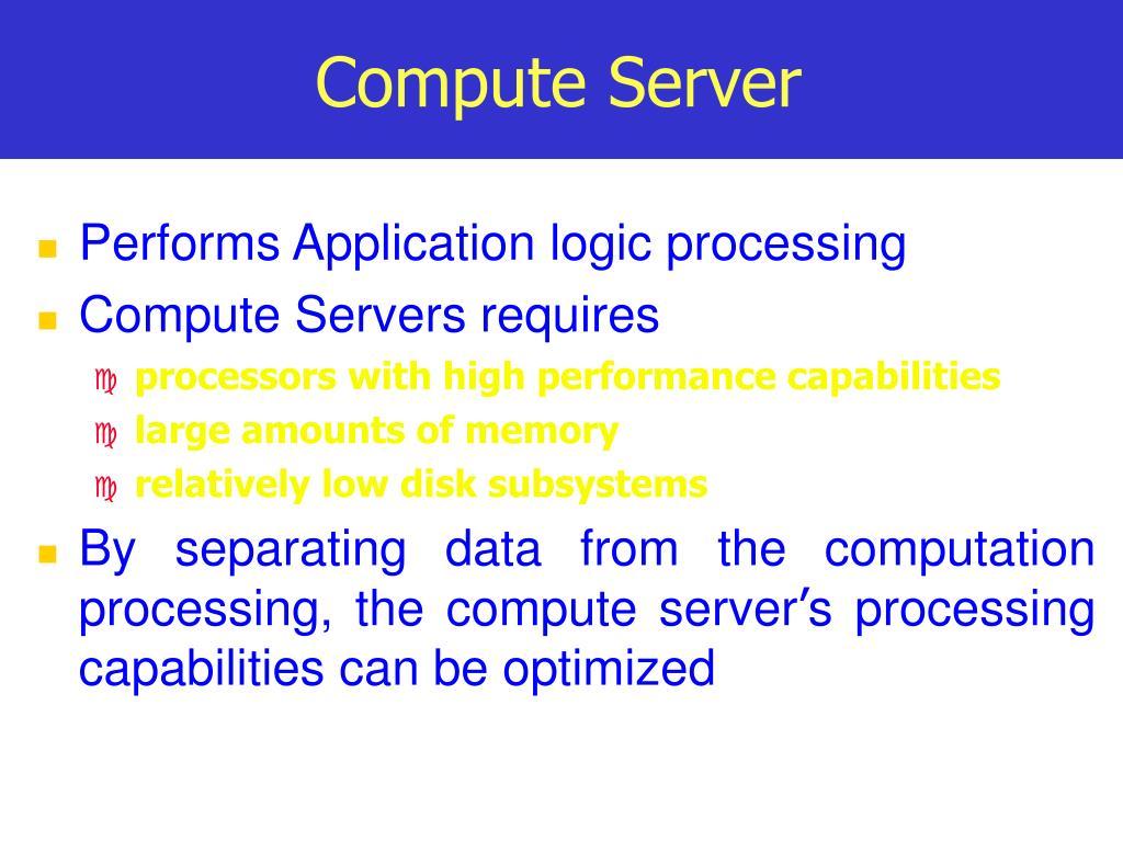 Compute Server