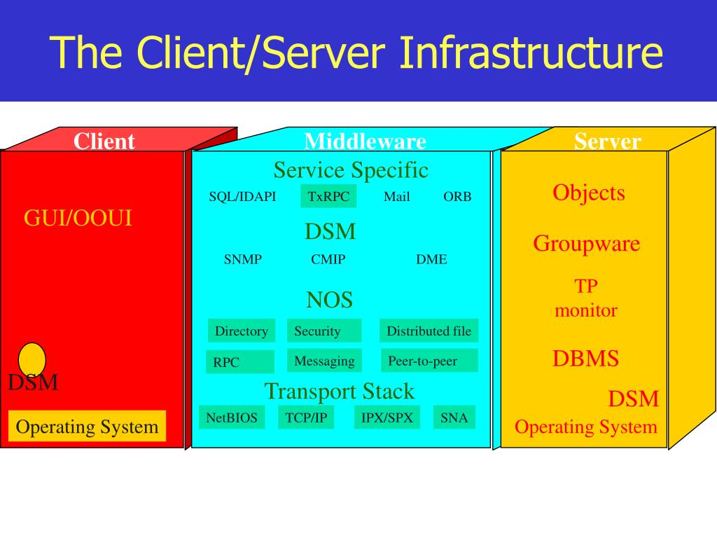 The Client/Server Infrastructure