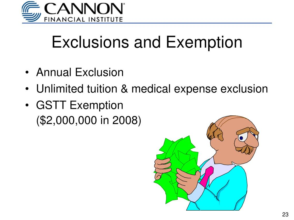 Exclusions and Exemption