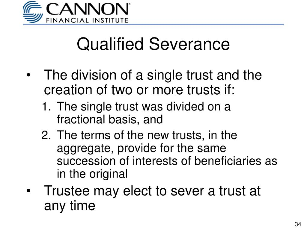 Qualified Severance