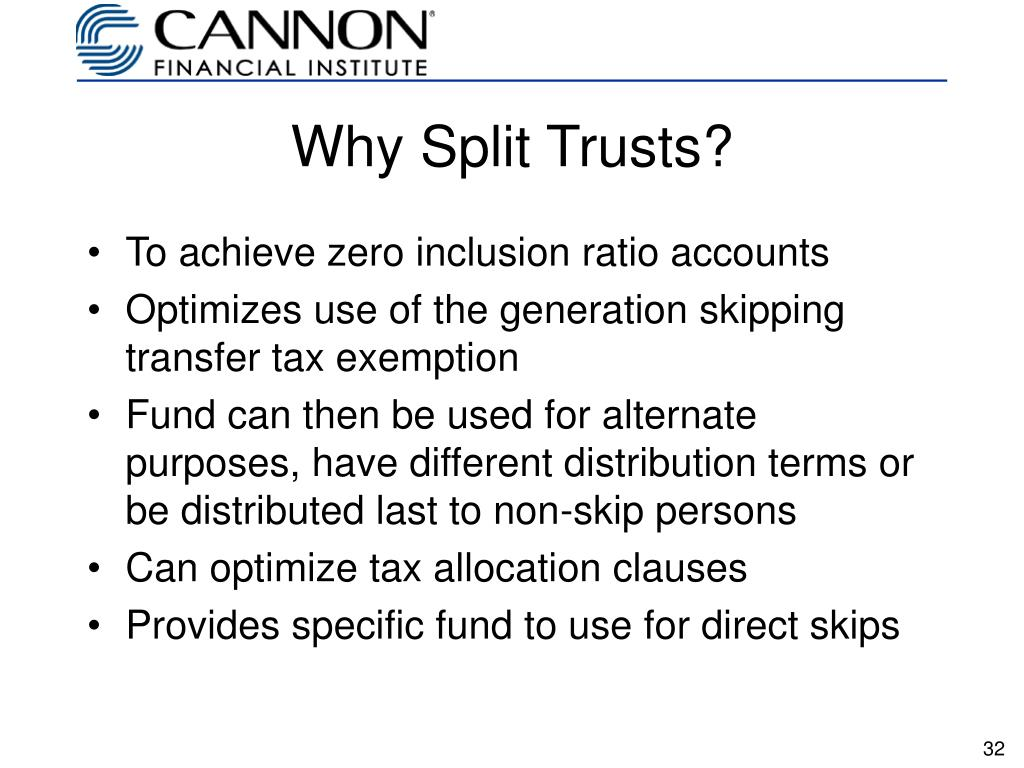 Why Split Trusts?