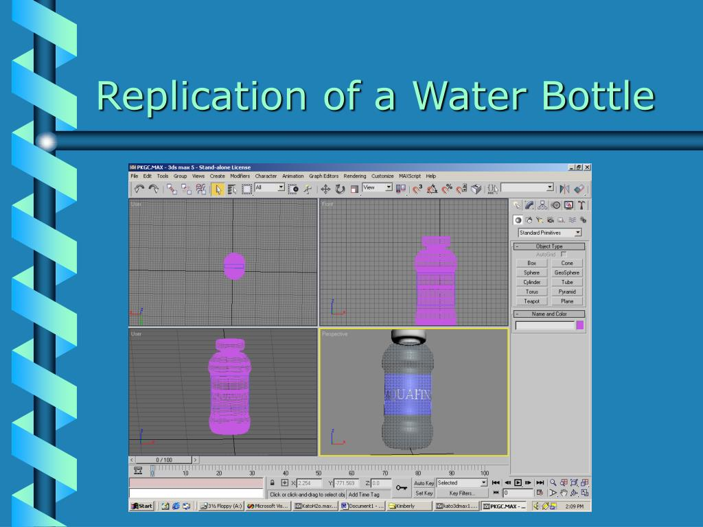 Replication of a Water Bottle