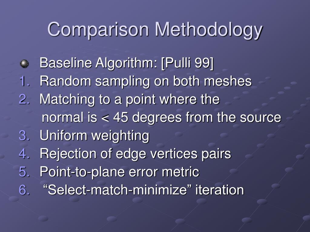 Comparison Methodology