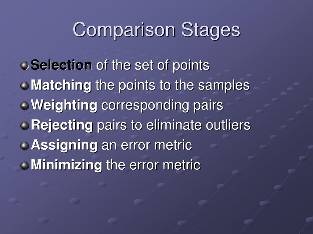Comparison Stages