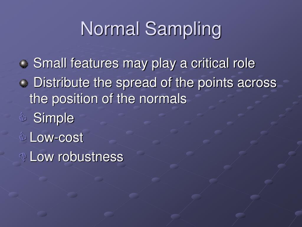 Normal Sampling