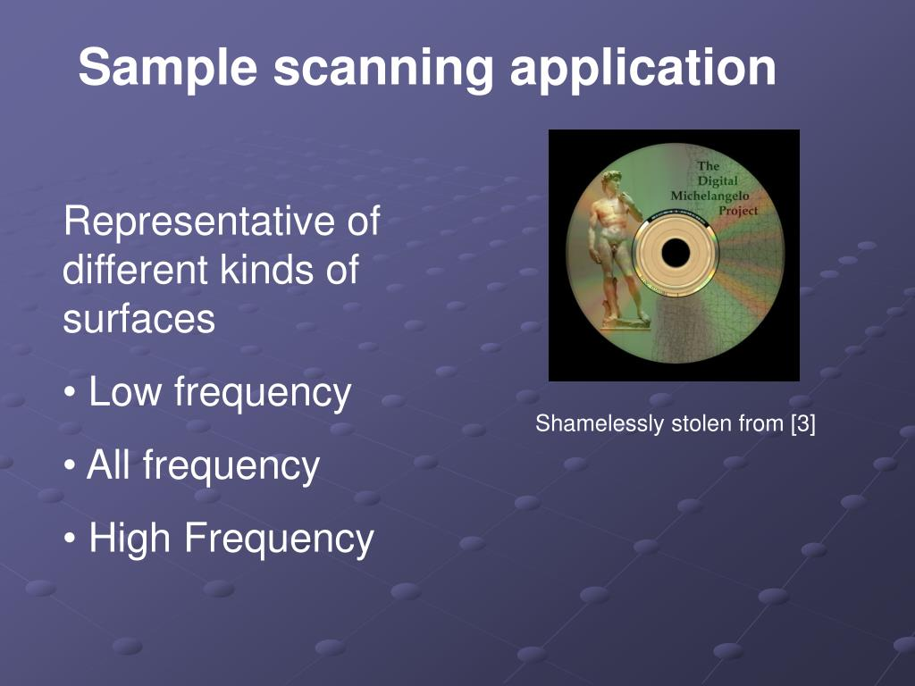 Sample scanning application