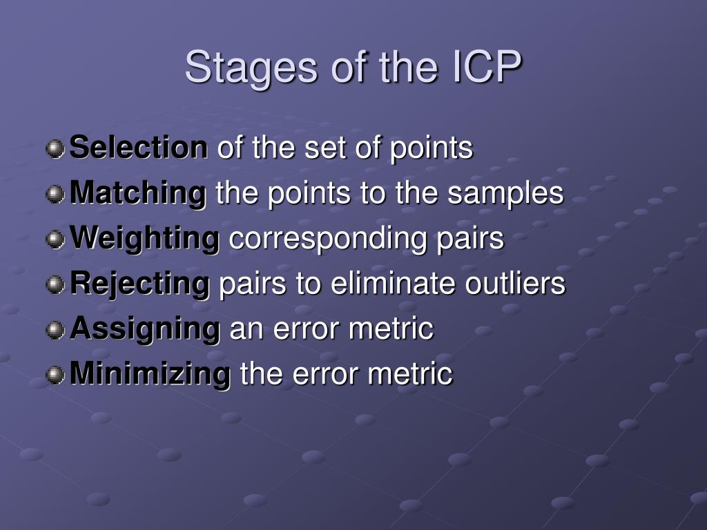 Stages of the ICP