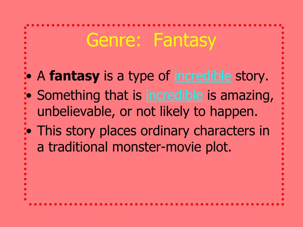 Genre:  Fantasy