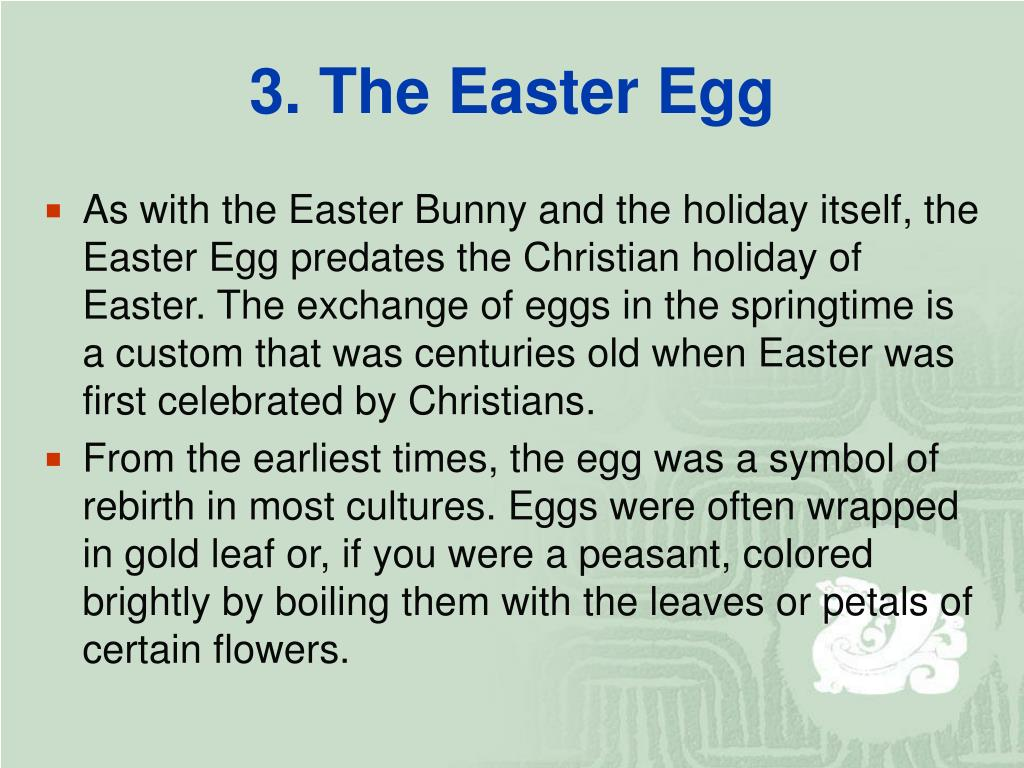 3. The Easter Egg