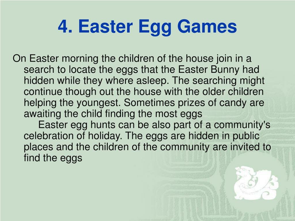 4. Easter Egg Games
