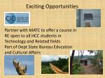 exciting opportunities