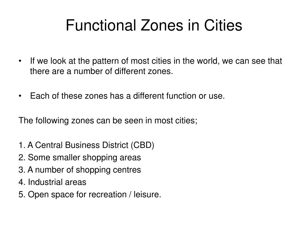 Functional Zones in Cities