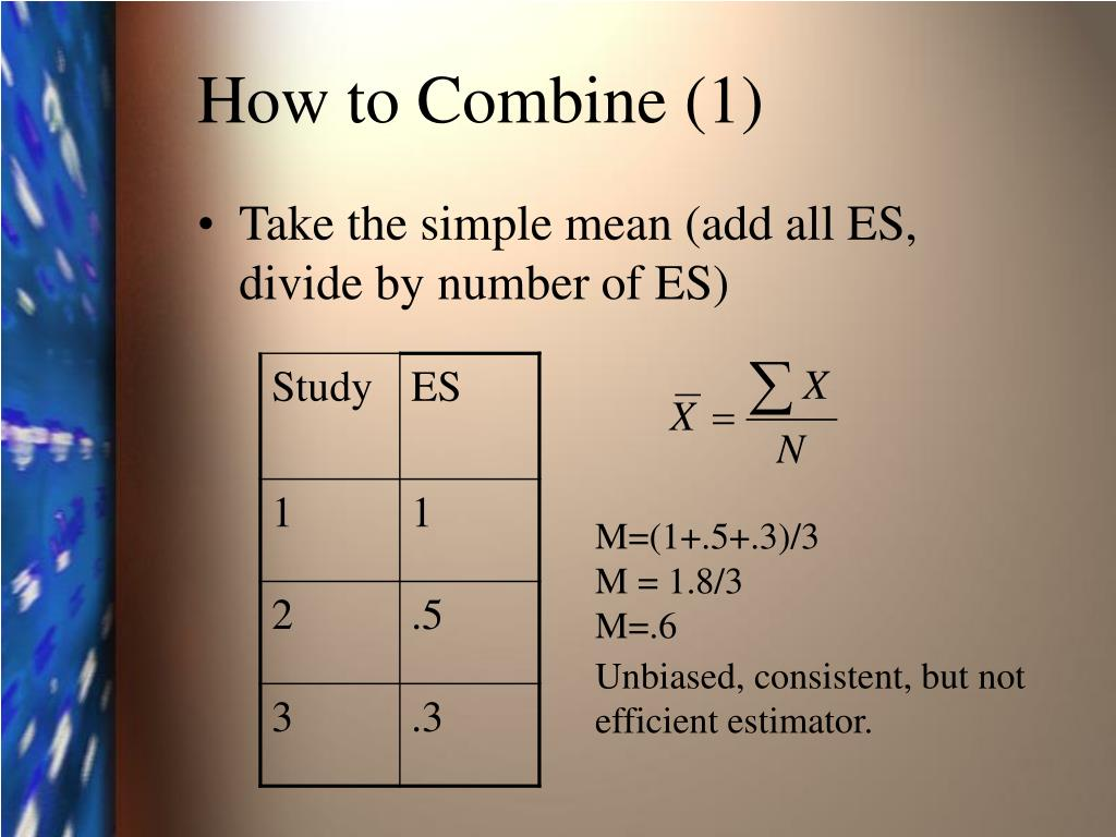 How to Combine (1)