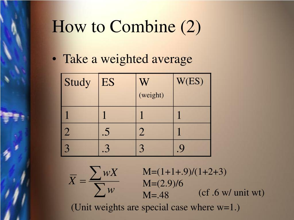 How to Combine (2)