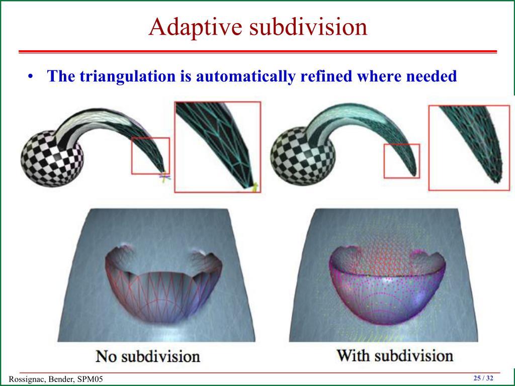 Adaptive subdivision