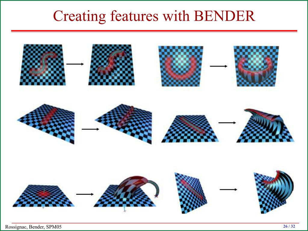 Creating features with BENDER