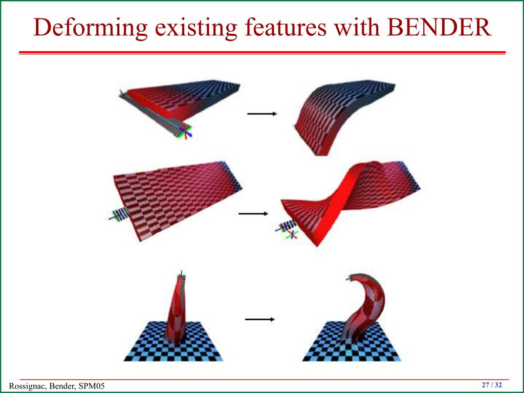 Deforming existing features with BENDER