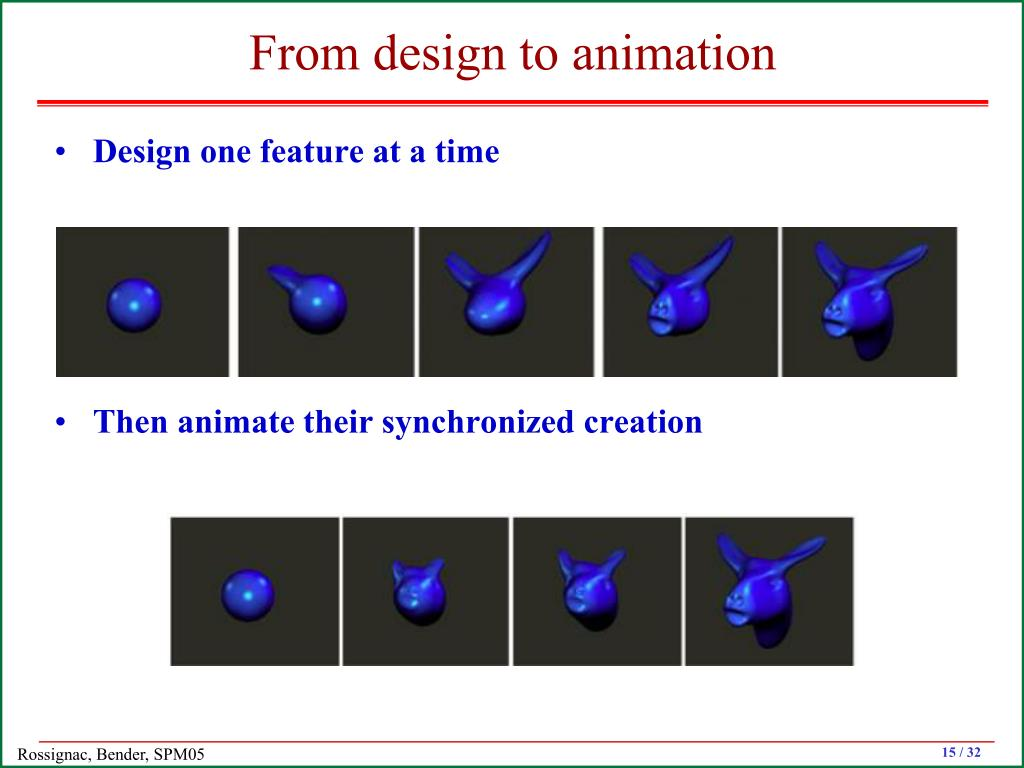 From design to animation