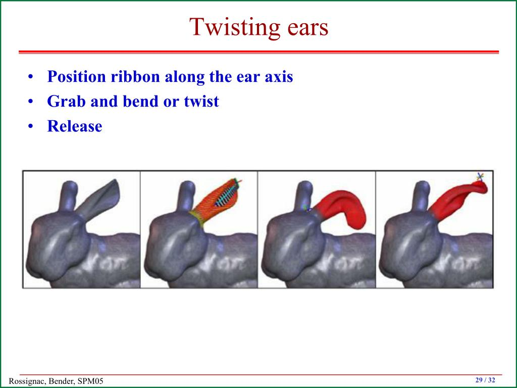 Twisting ears