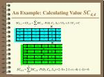 an example calculating value sc 4 4