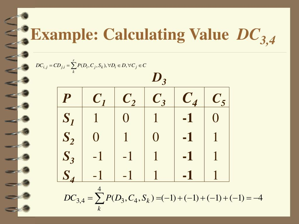 Example: Calculating Value