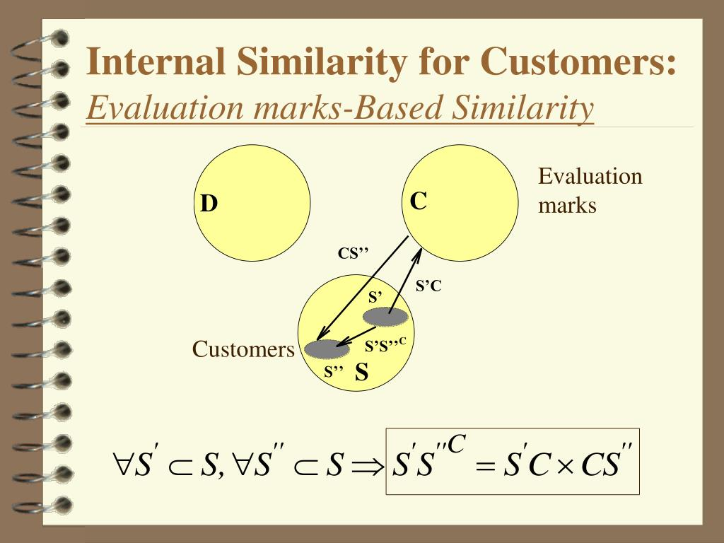 Internal Similarity for Customers:
