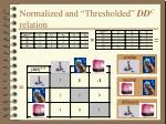 normalized and thresholded dd c relation